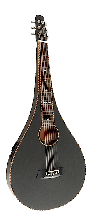 Black Teardrop with Rope Bindings & 4-Band EQ | Bediaz